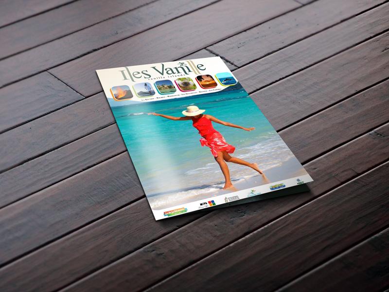 création concept graphique Iles vanilles 2009-2010