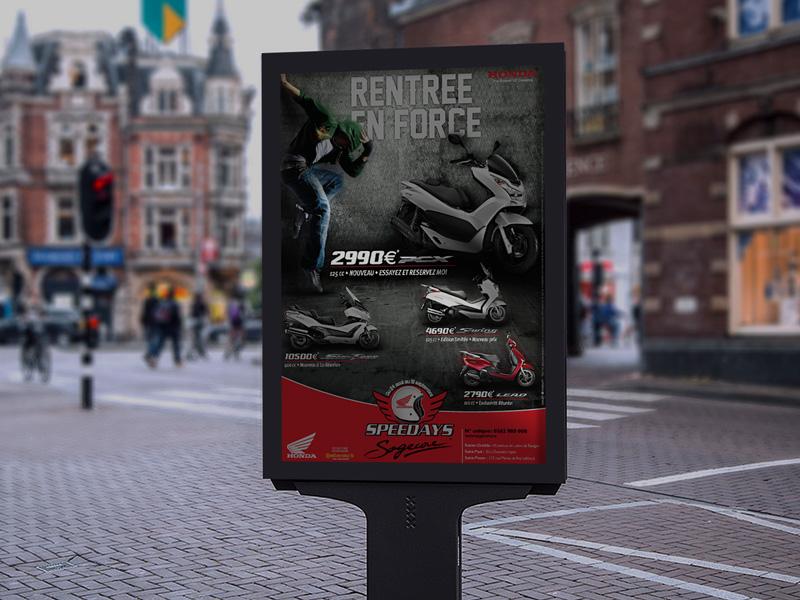 Création Annonce press HONDA