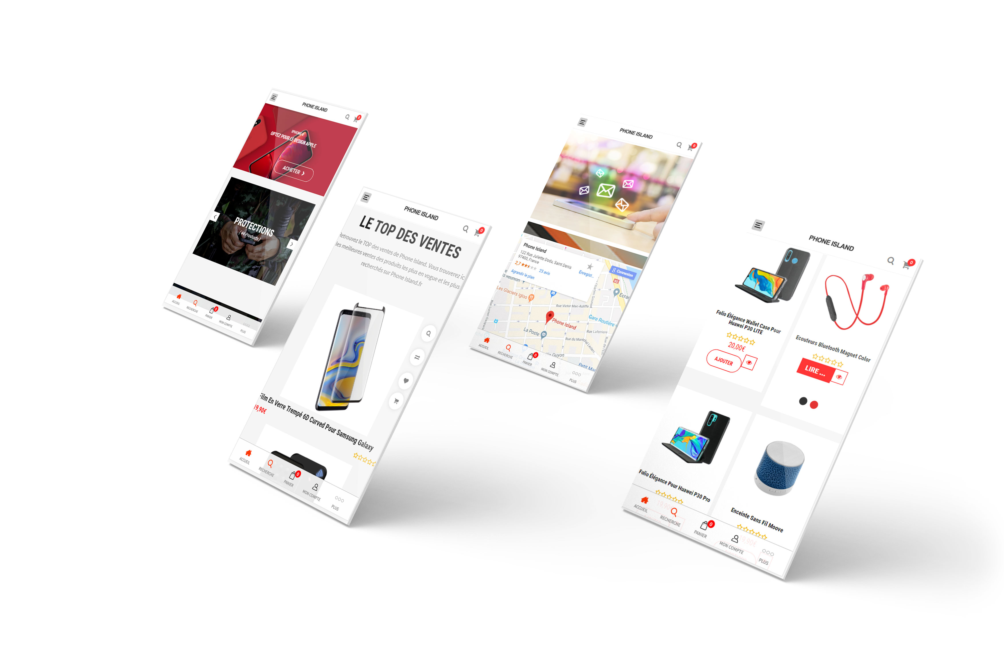 Site ecommerce Phone Island.fr